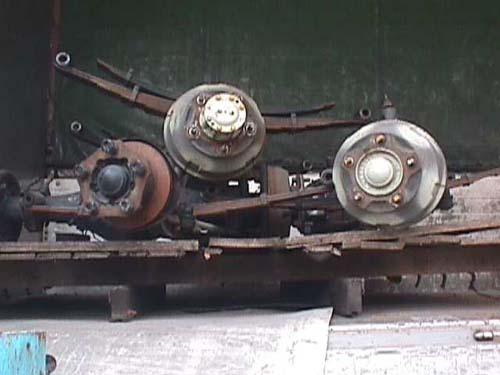 Axles with spring (Used)